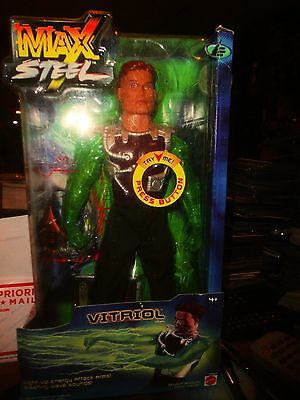 Rare Max Steel Vitriol 11 Inch Action Figure, Nrfb