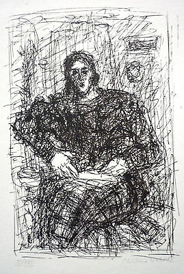 CHRISTINE WAHL ( * 1935), Lithographie (1982)