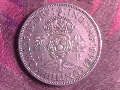 Great Britain    Two  Shilling  1948