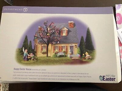 Dept 56 The Original Snow Village Happy Easter House #55090 New in box