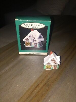 1993 Hallmark Miniature Ornament - Old English Village #6, The Toy Shop