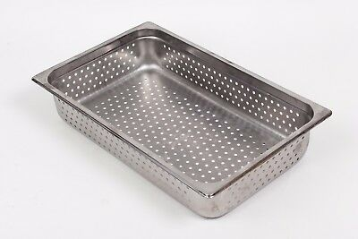 """Full Size Stainless Steal Steam Table Perforated Pan 4"""" Deep NSF"""
