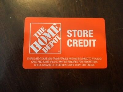 The Home Depot Store Credit $98.33 ID May Be Required
