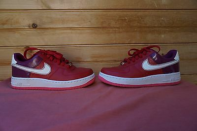 Nike Girls Air Force 1 Carmine White Berry Pink Size 5Y (L227)