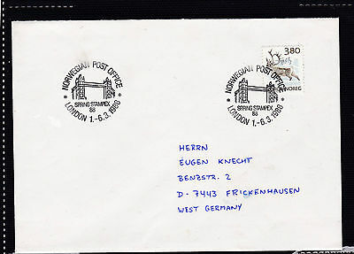 Norwegen 987 REN 1988 TOWER BRIDGE LONDON STAMPEX NORWAY NORGE BRIEF