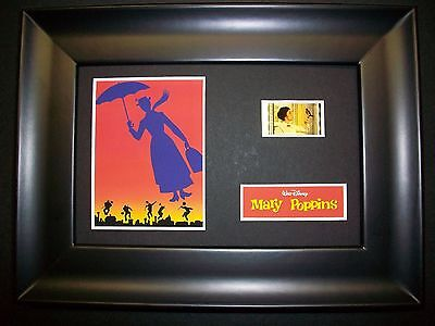MARY POPPINS Framed Movie Film Cell Memorabilia Compliments poster dvd