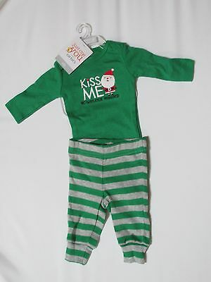 Just One You Boy Girl Bodysuit Newborn Pants Outfit Long Sleeve First Christmas