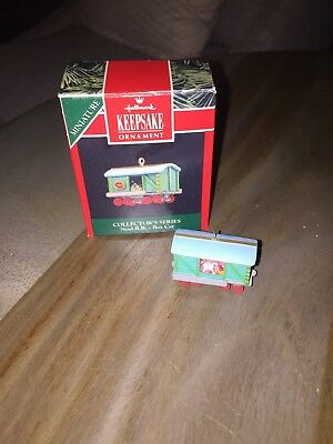 1992 Hallmark Noel Railroad Box Car Mini Christmas Ornament