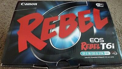 New! Canon EOS Rebel T6i DSLR Camera with EF-S 18-135mm f/3.5-5.6 IS STM Lens