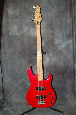 1991 USA Made Peavey Foundation Bass RED New Strings and Stagg Gigbag