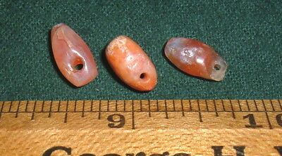 (3) Small Choice Sahara Neolithic Pendants W/COLOR Prehistoric African Artifacts