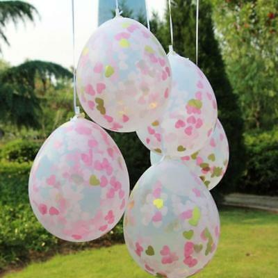 "20pcs 12"" Clear Heart Confetti Filled Balloons Birthday Party Wedding Decor"
