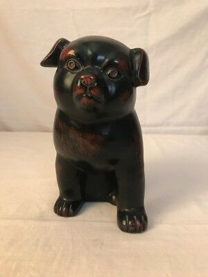 "Fitz & Floyd Ceramic Vernissage Dog Figurine 7"" Japan Pottery Figure"