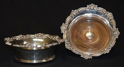 Pair of Royal Castle Sheffield Silver-Plated Wine Bottle Coasters