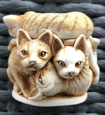 1994 HARMONY KINGDOM PURRFECT FRIENDS CATS Collectible Figurine from England