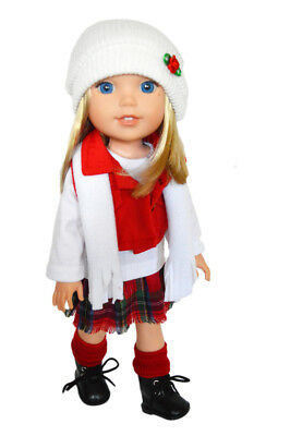 My Brittany's Winter Bliss Outfit for Wellie Wisher Dolls-14 Inch Doll Clothes