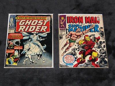 1967 Ghost Rider 1 Origin 1St App Iron Man And Submariner 1 Lee Ayers Colan 55