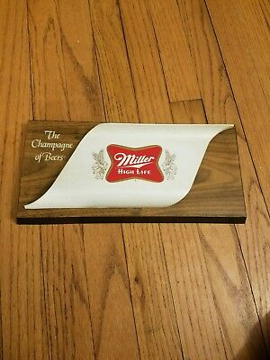 Vintage Miller High Life the Champagne of Beers wall bar sign 3-D