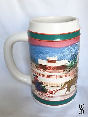 Miller High Life VINTAGE 1985 Holiday Beer Stein Mug Excellent Used Condition