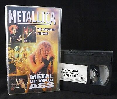 RARE Metallica METAL UP YOUR *SS - The Interview Sessions VHS