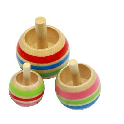 Japanese Magical Wooden Inverted Spinning Top Gyro Kids Children's Funny Toy