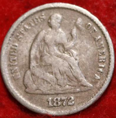 1872-S San Francisco Mint Silver Seated Half Dime
