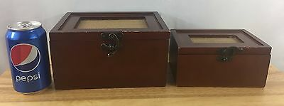 Vintage Pair Of Wooden Nesting Boxes - 2 Nesting Boxes