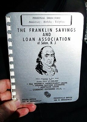 1961 Franklin Savings & Loan Assoc, SALEM, NJ - Directory, Ads GLENSIDE DAIRY