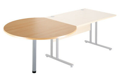 Momento Desk End Radial Conference Table ECL