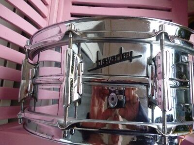 "Beverley 14 x 5,5""  ,10 Lugs ,Vintage 60's Snare Made in England + Snareständer"
