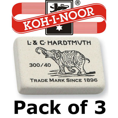 Pack Of 3 Koh-I-Noor Hardtmuth Soft Artist Pencil Eraser Rubber Sketching Art Hb