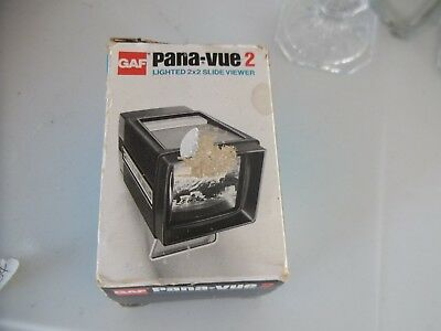 Pana-Vue 2 Lighted 2x2 Slide Viewer GAF With Original Box - Fast Free Shipping!