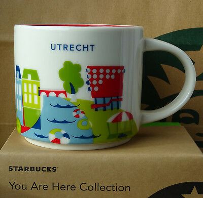 Starbucks City Mug Cup You are here Series YAH Utrecht Netherlands 14oz NEW