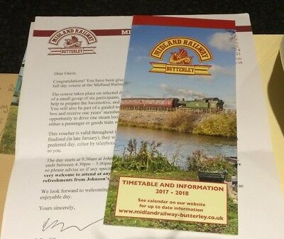 Midland Steam Railway Train Experience Footplate Red Letter Full Day Voucher