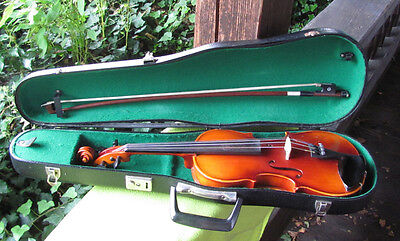 MOD 1/2 GEIGE VIOLINE MIT KOFFER MADE IN GERMANY 70er 60er Jahre