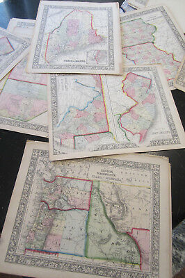State Maps, Canada - From Mitchells New General Atlas 1860-1865, 15 maps