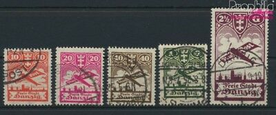 Gdansk 202-206 (complete issue) fine used / cancelled 1924 Airmail (9045891