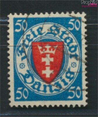 Gdansk 200y ba tested fine used / cancelled 1924 State Emblem (9045894