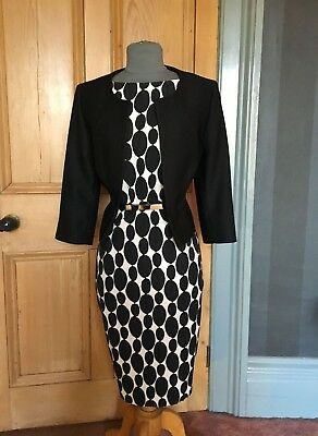 Gorgeous Phase Eight Mother Of The Bride/evening Dress And Jacket, Size 14