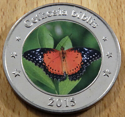 West Nusa Tengg - 1 Dollar - 2015 - Red Lacewing Butterfly - Farbe