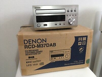 DENON RCD-M37DAB Stereo CD Receiver, Mint Unmarked Condition