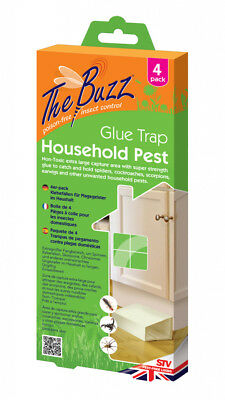 The Buzz Household Pest Glue Trap 4 Pack