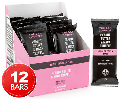 12 x The Bar Counter Peanut Butter & Maca Truffle Protein Bars 40g