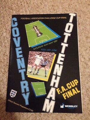 FA Cup Final Programme And Scarf 1987