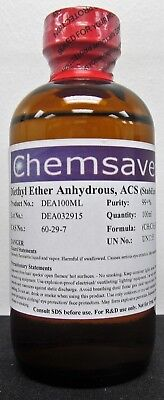 Diethyl Ether, ACS, 99+%, 100ml (for Photographic Applications)