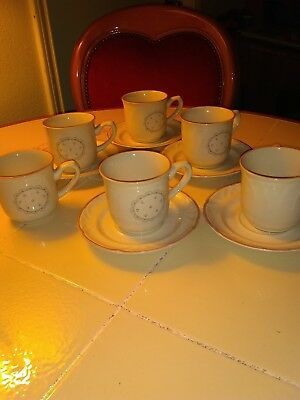 victoriana China Cups and Saucers,1988 Made in Japan
