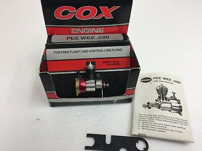 Vintage Cox Pee Wee .020 Glow model Aircraft engine new in box