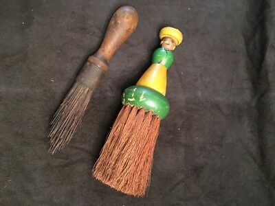 Nice Old Unusual Vintage Lot Of 2 Wisk/whisk Brooms In Good Condition