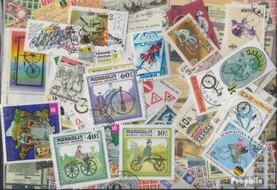 Motives 50 different Bicycles stamps