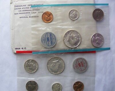 NICE 1964 U.S. Mint Set with Original  Envelope
